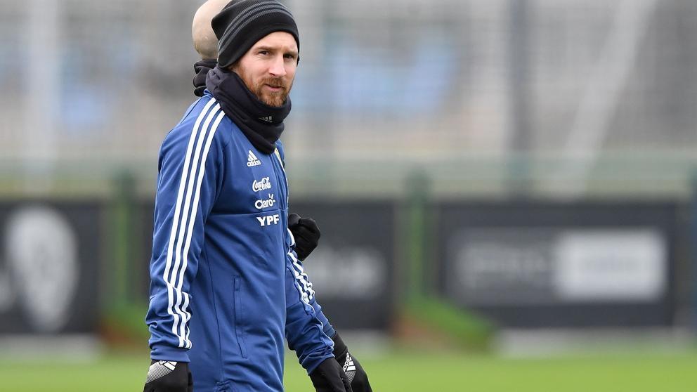 (+VIDEO) El golazo de Messi en el entrenamiento de Argentina