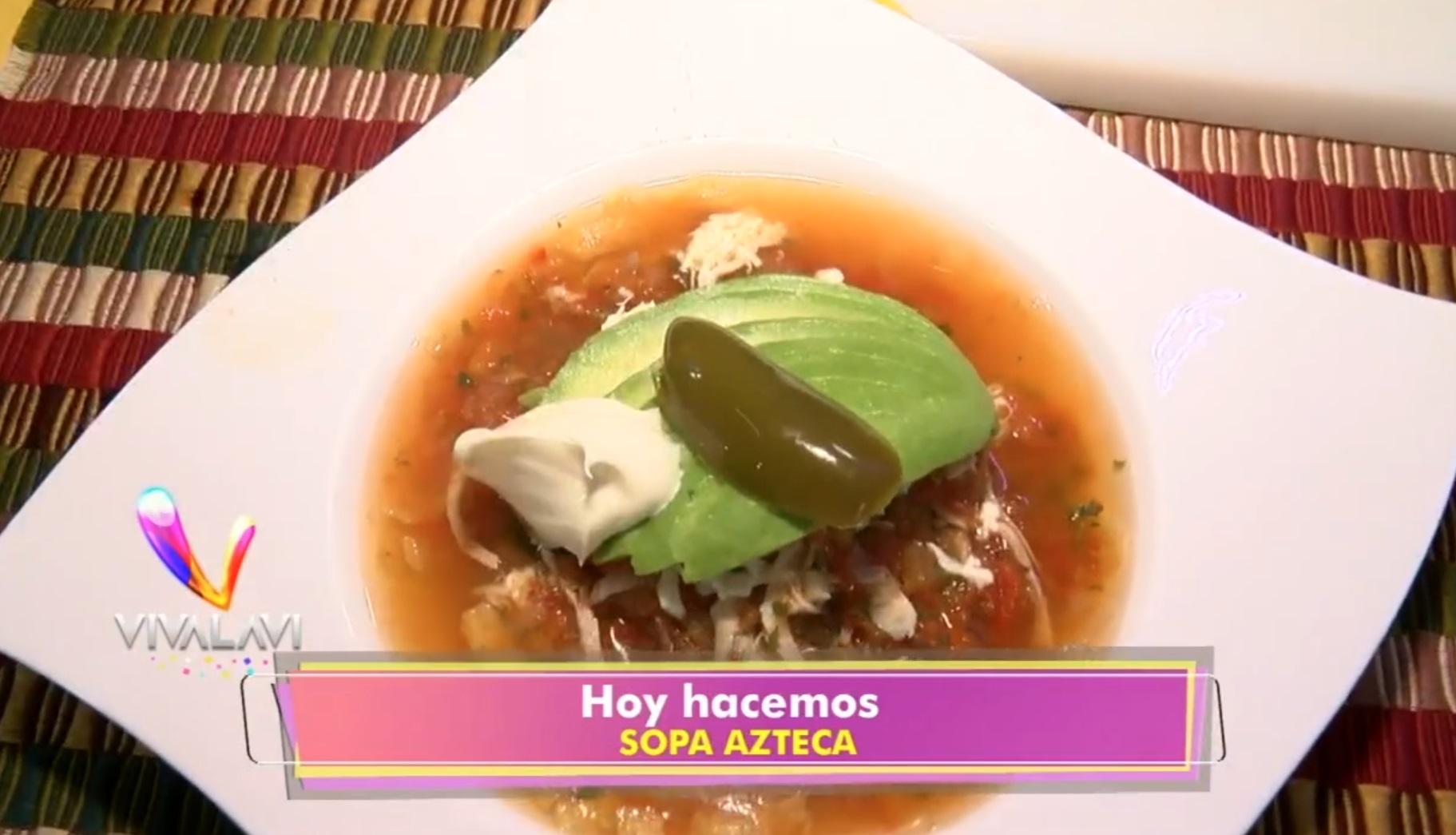 (+VIDEO) Cocine un sabrosa sopa azteca