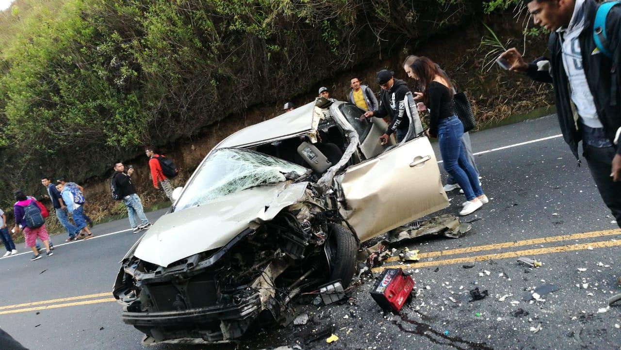 Accidente en la ruta 27