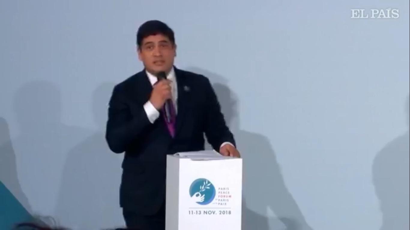 (+VIDEO) París: Presidente Alvarado defiende digitalización y cambio climático