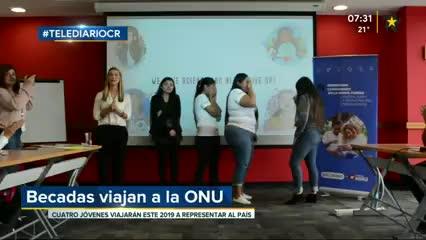 (+VIDEO) Estudiantes costarricenses son becadas para visitar la ONU