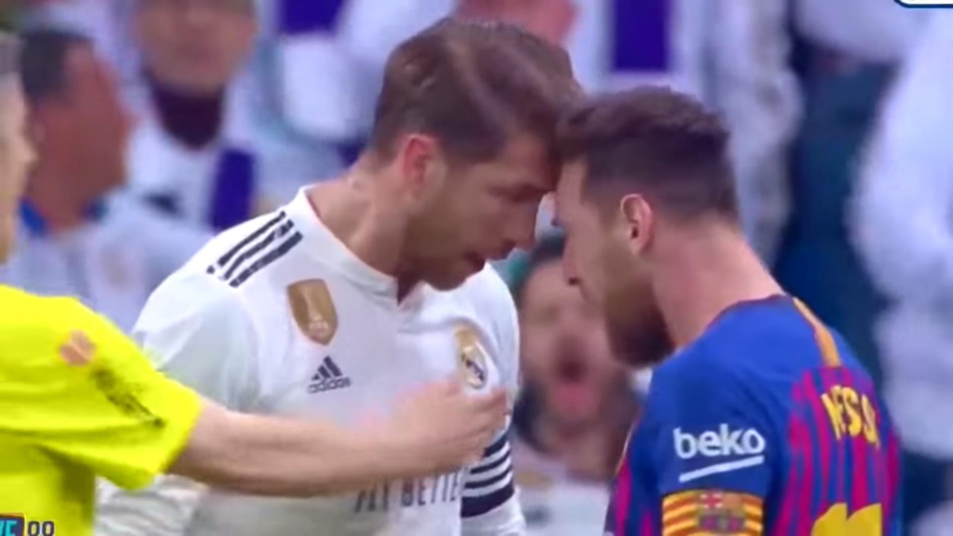(+VIDEO) ¡Tenso Clásico! El enfrentamiento entre Sergio Ramos y Leonel Messi