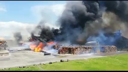 Incendio consume al menos mil metros de una bodega en Alajuela