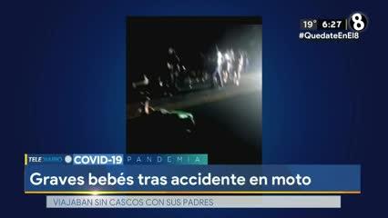 Dos menores graves tras accidente en moto