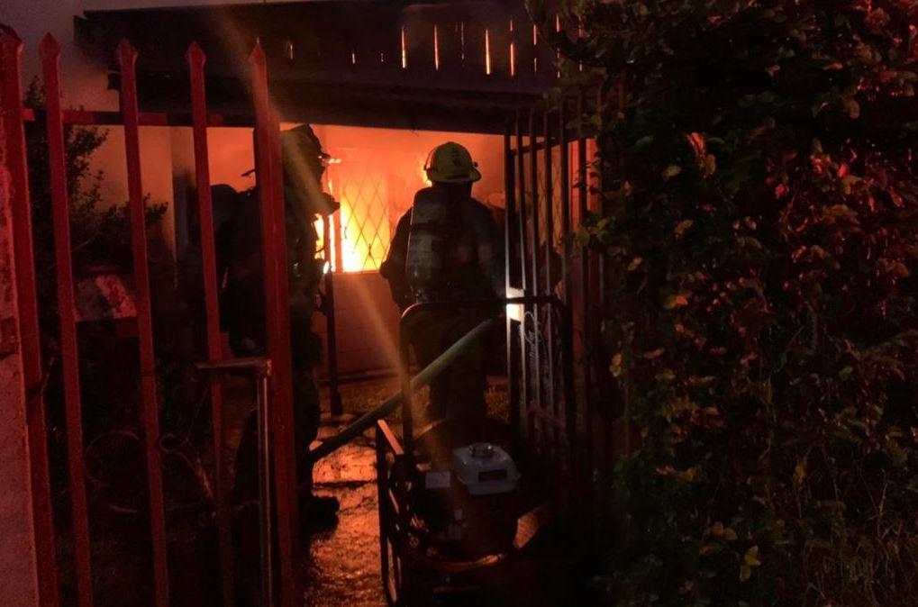 Incendio afectó vivienda en Desamparados