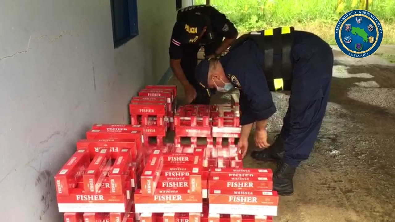 Frenan cargamento que ingresaba desde Nicaragua con más de 69 mil cigarrillos en contrabando