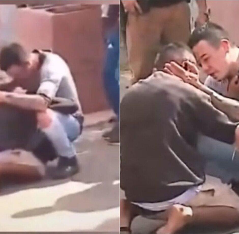 (VIDEO) Consuela y abraza a culpable de atropellar a su hija