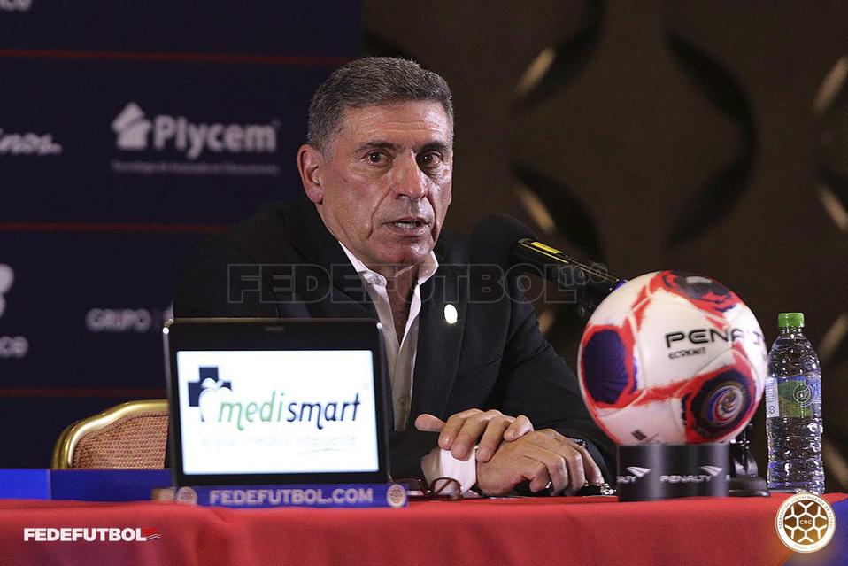 Luis Fernando Suárez, nuevo entrenador de la Seleccion de Costa Rica. (Foto Fedefutbol)