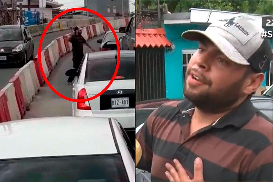 Conductor violento cuenta lo que sucedió durante pelea en San José
