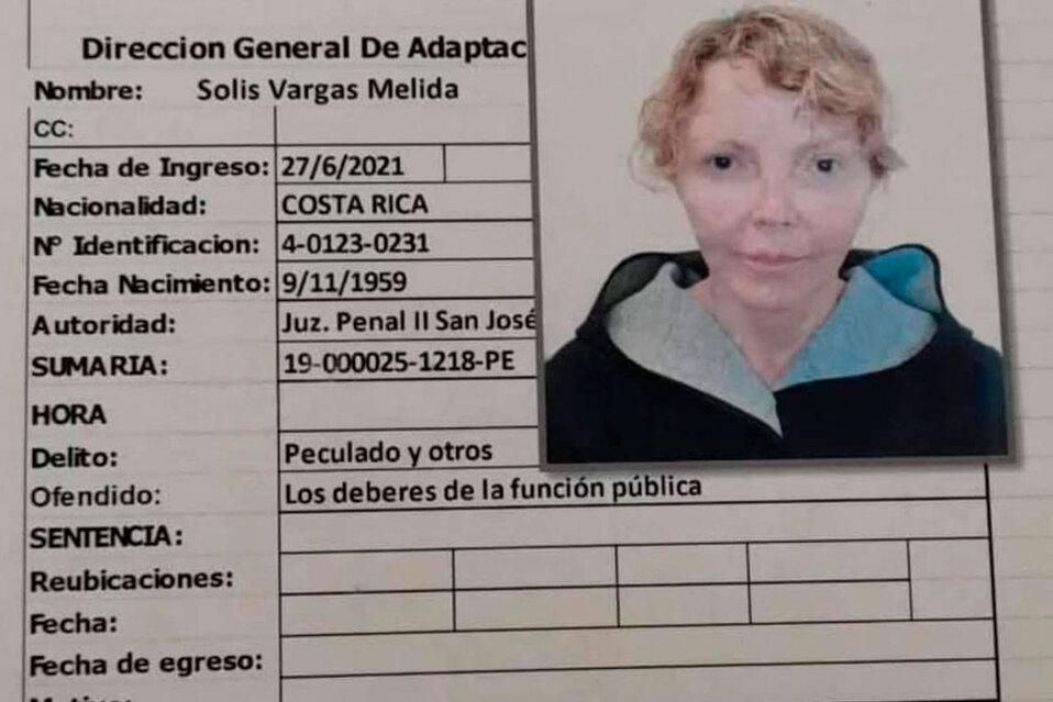 Mélida Solís estuvo presa en la cárcel de Mujeres Vilma Curling