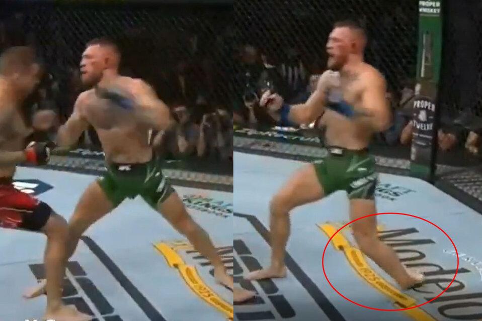 Momento en el que Conor McGregor sufre fractura en la UFC