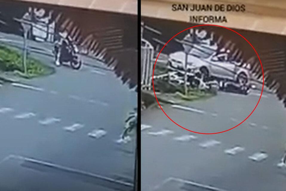Atropellan a motociclista sin placas que intentó escapar del OIJ