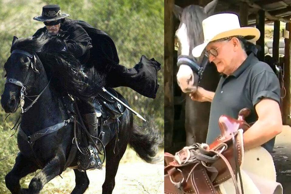 Tico entrenó caballo que se usó para película de El Zorro con Antonio Banderas
