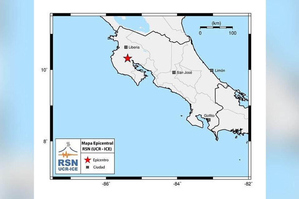 Fuerte sismo de magnitud 4,2 sacude Costa Rica este martes