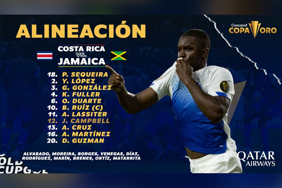MINUTO A MINUTO Costa Rica Vs. Jamaica en la Copa Oro