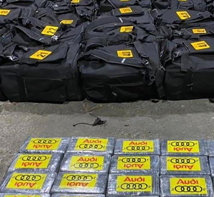Se trata de 4.3 toneladas de cocaína. (Foto: MSP)
