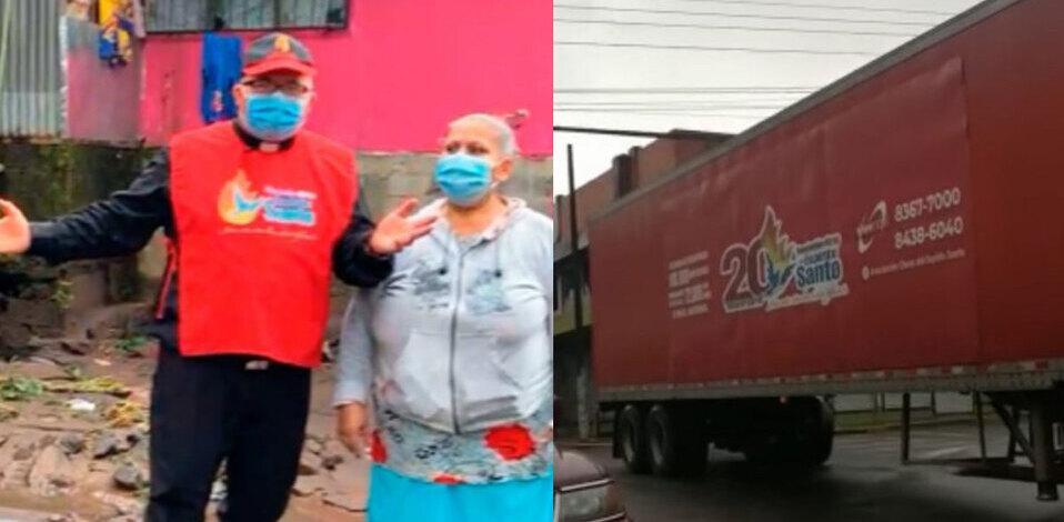 Padre Sergio llega con furgón de ayuda humanitaria a Turrialba
