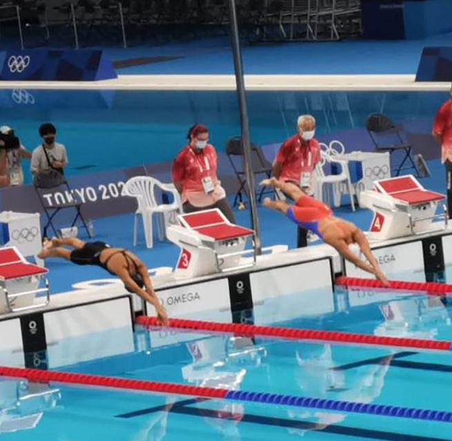 La competencia se llevó a cabo en el Tokio Acuatic Centre.
