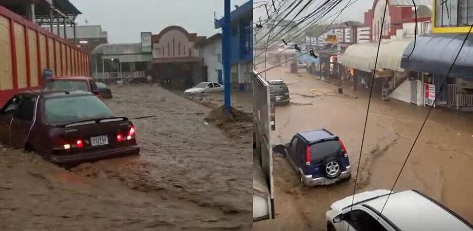 Fuertes lluvias generan inundaciones en varias zonas de Costa Rica
