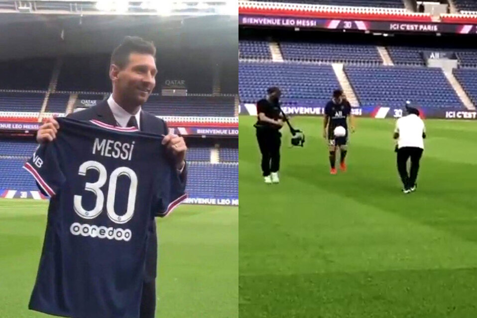 Lionel Messi realiza primer reconocimiento de cancha en París