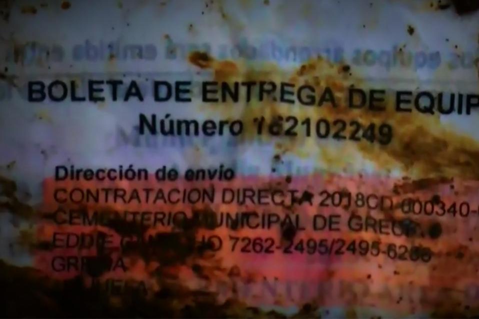 Documentos enterrado pueden estar relacionados al caso cochinilla.