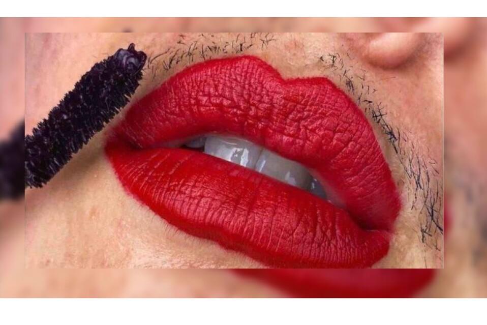 Inluencer muestra bigote e imperfecciones