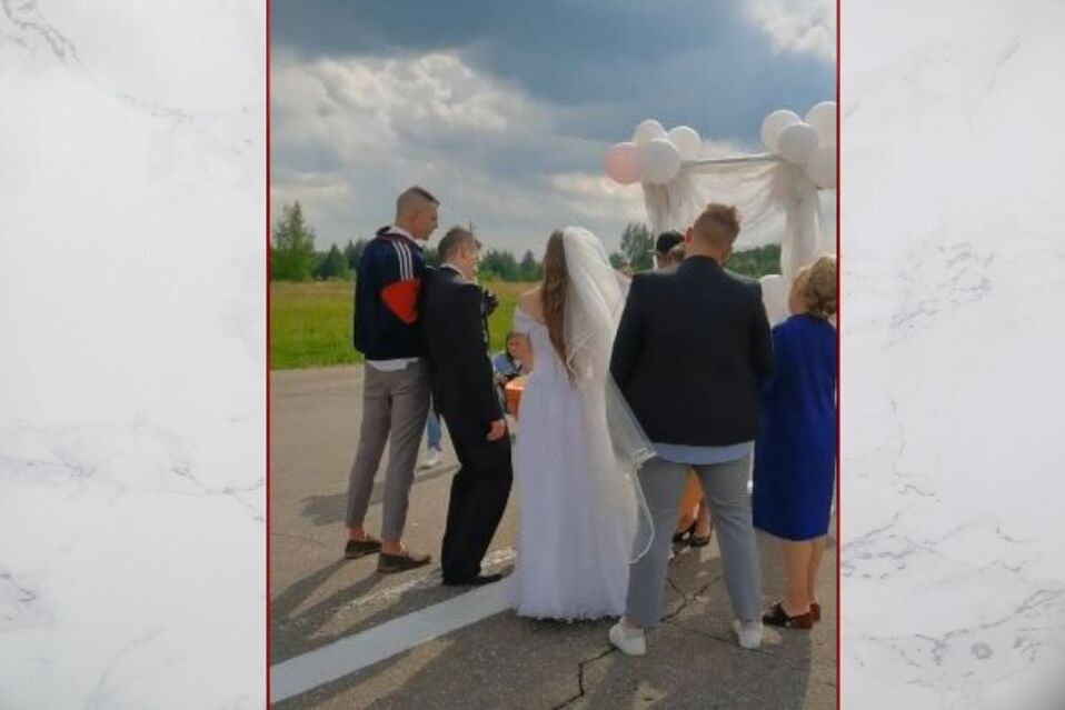 Padrino tuvo que sostener al novio para la ceremonia