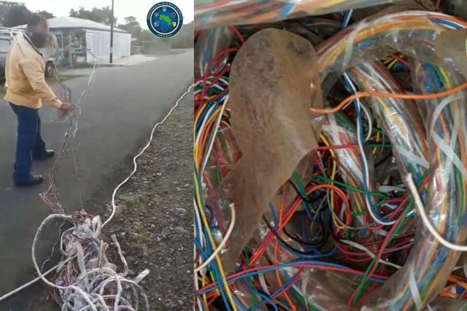 Fuerza Pública captura a tres sospechosos de robar cable telefónico