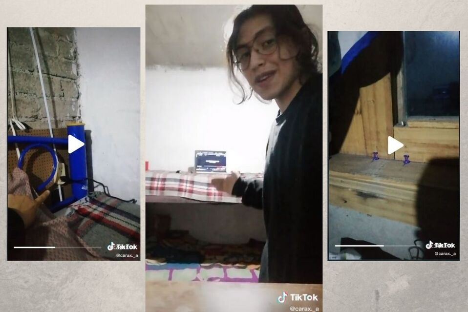 Joven muestra en detalle su habitación compartida con su hermana