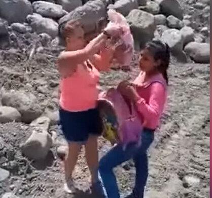 Ubican a madre que llevaba a niña dentro de una mochila en Turrialba   VIDEO