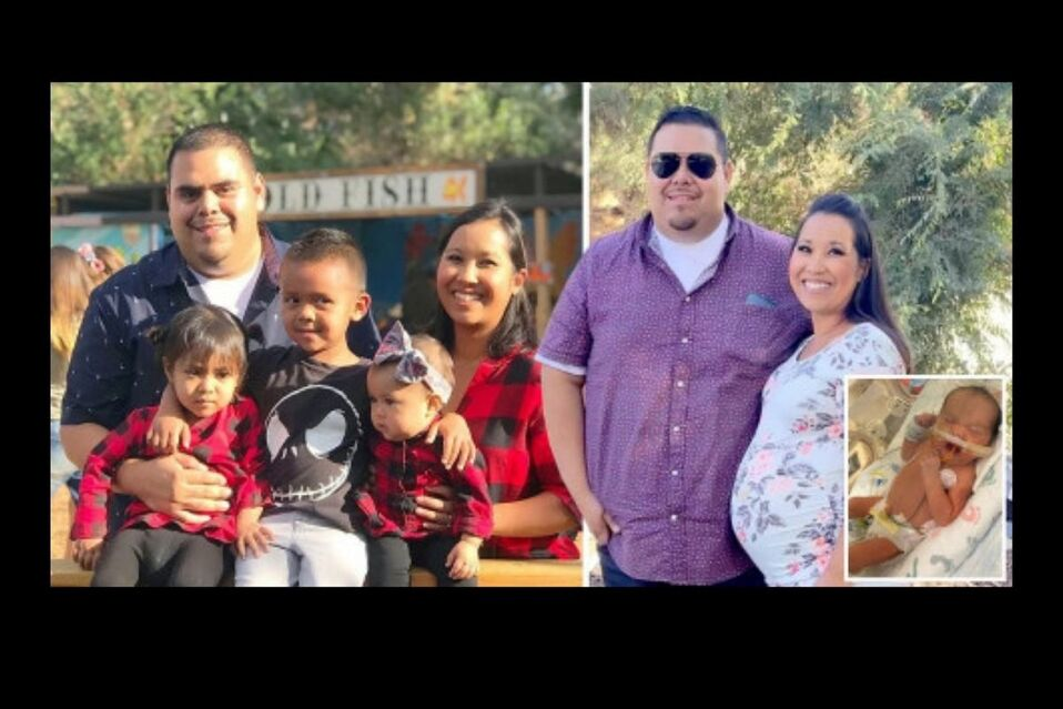 La familia estaba compuesta por cuatro hijos y una bebé en camino