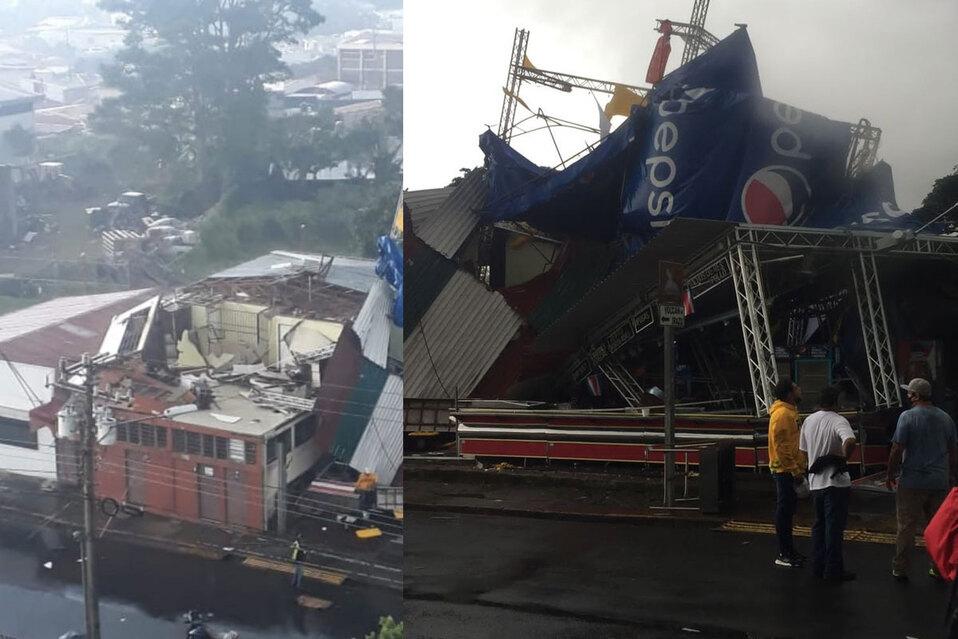 Torbellino arrasa con estructuras en Cartago (FOTOS + VIDEO)
