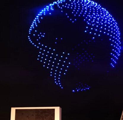 Espectáculo de drones iluminó el cielo en San José