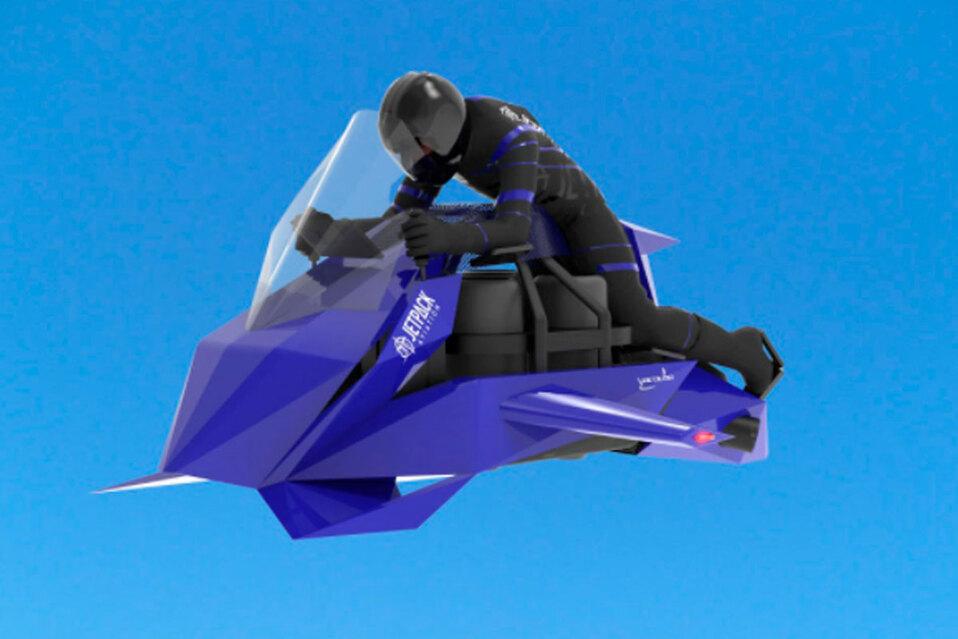 JetPack Aviation voló el prototipo de moto voladora. (Fuente: JetPack Aviation)