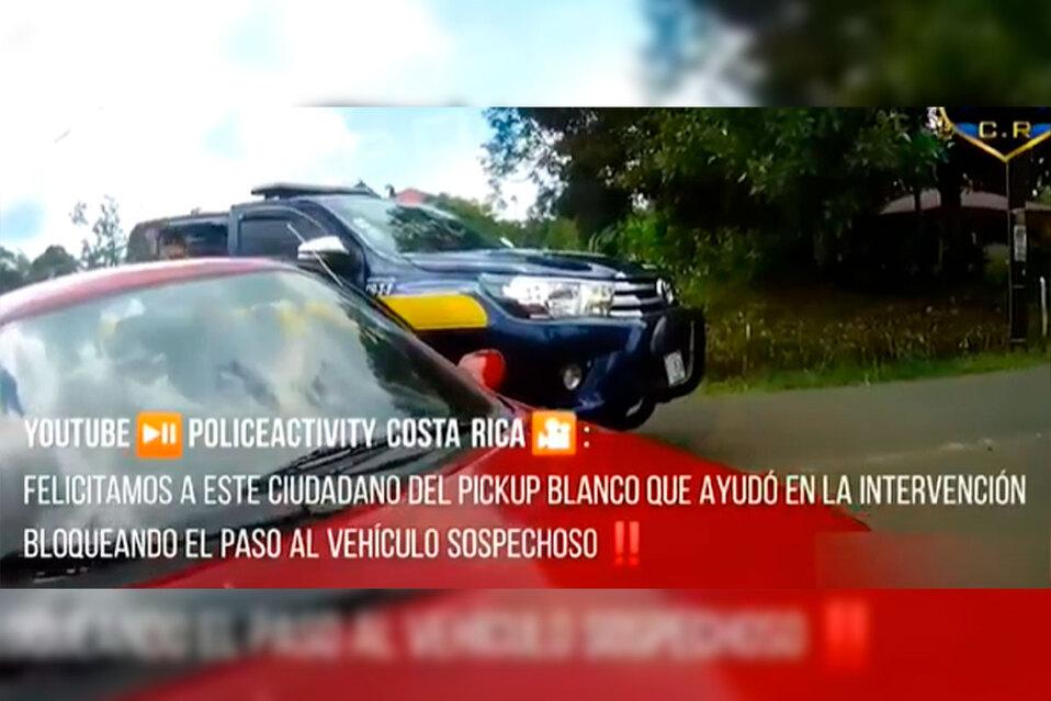 Fugas son comunes en operativos de tránsito. (Policía CR)