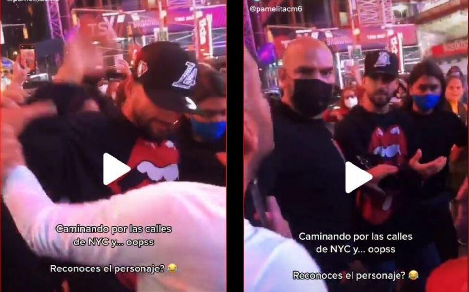 Maluma se muestra molesto con el fan por agarrarlo de su brazo