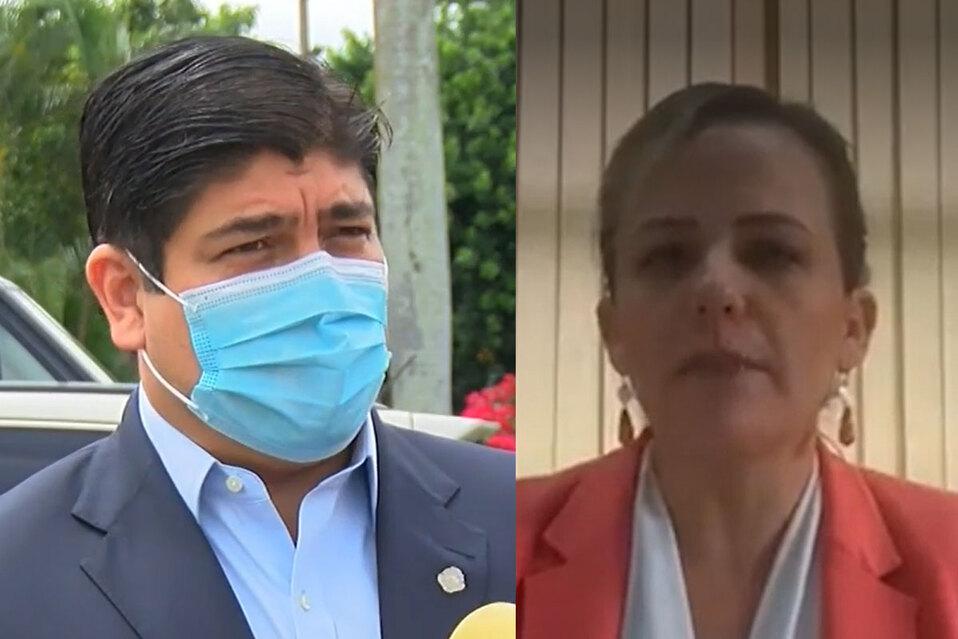 Presidente Alvarado le responde a Defensora por vacunación obligatoria