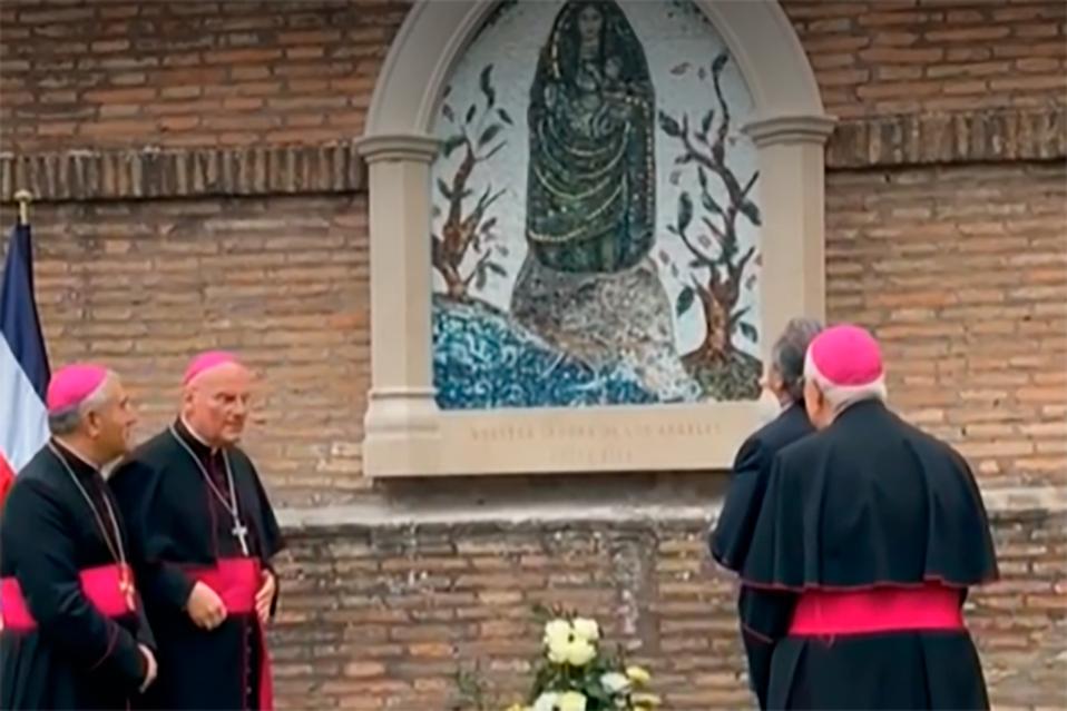 """Así luce el mosaico de """"La Negrita"""" en el Vaticano"""