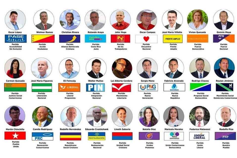 27 candidatos aspiran a la Presidencia de la República. Imagen: elmundo.cr
