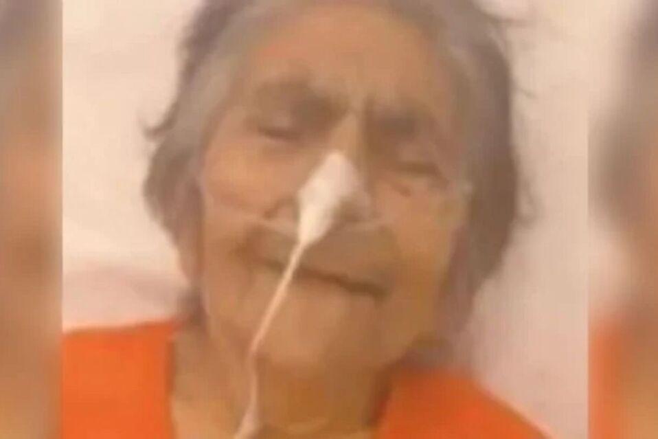 Ursulina, de 84 años, fue abandonada en una clínica de San Juan. Imagen: Clarín.com